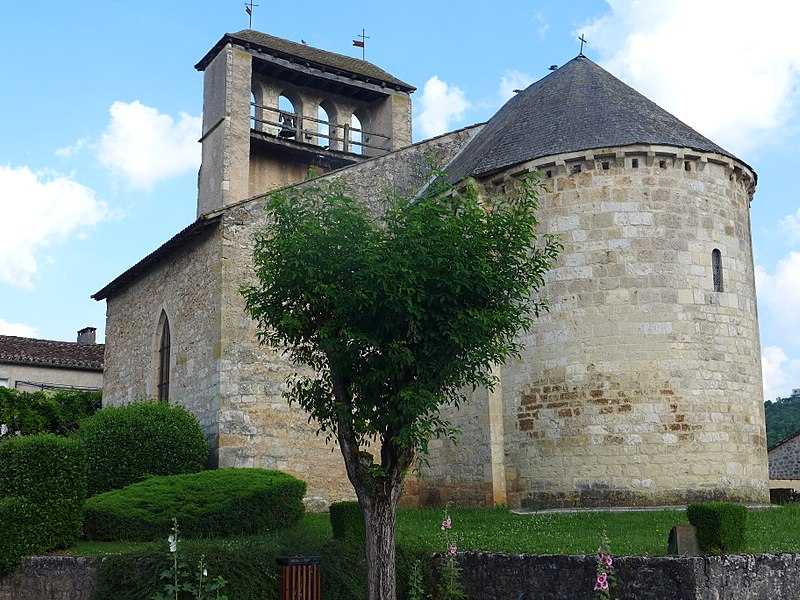 Photo du Monument Historique Eglise situé à Anglars-Juillac