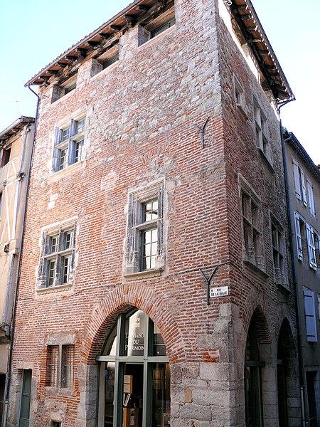 Photo du Monument Historique Maison du 15e siècle situé à Cahors