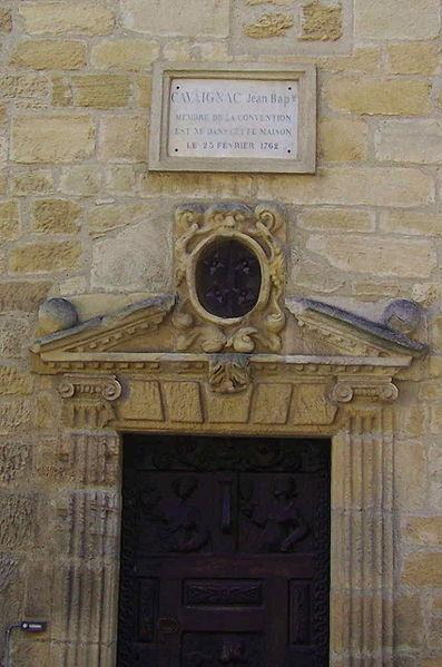 Photo du Monument Historique Maison Cavaignac situé à Gourdon