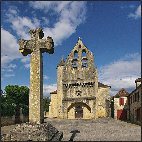 Photo du Monument Historique Eglise Saint-Sixte situé à Lamothe-Fénelon