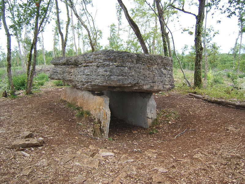 Photo du Monument Historique Dolmen dit d'Agarnel situé à Limogne-en-Quercy