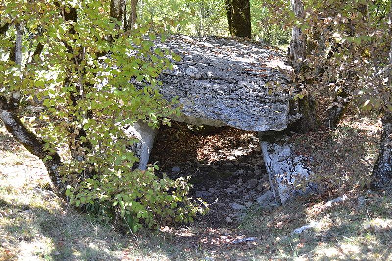 Photo du Monument Historique Dolmen dit de Joncas situé à Limogne-en-Quercy