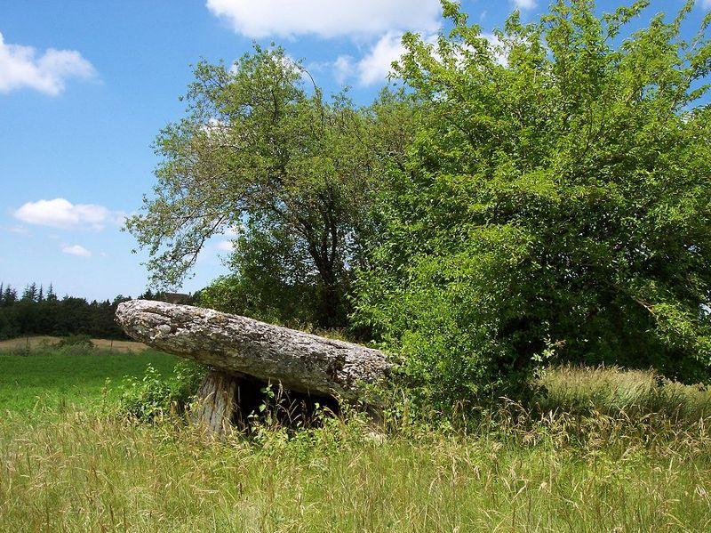 Photo du Monument Historique Dolmen dit de Pajot situé à Limogne-en-Quercy