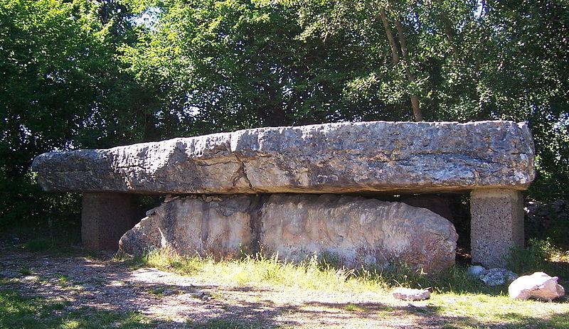 Photo du Monument Historique Dolmen nommé La Pierre Martine situé à Livernon