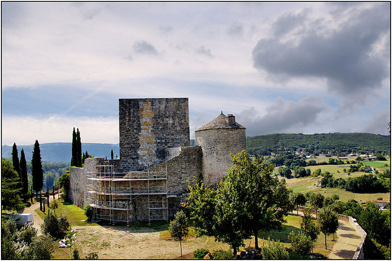 Photo du Monument Historique Ruines du château situé à Montbrun