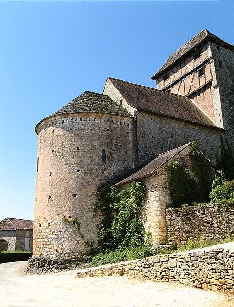 Photo du Monument Historique Eglise de Martignac situé à Puy-l'Evêque