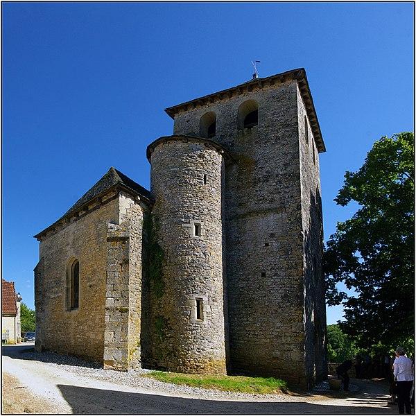 Photo du Monument Historique Eglise Saint-Pierre-ès-Liens situé à Rampoux