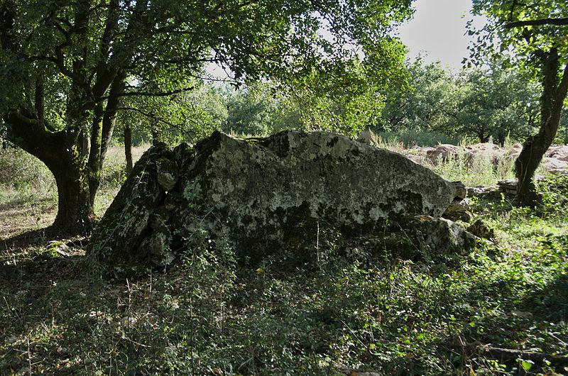 Photo du Monument Historique Dolmen dit de Crouzeilles situé à Saillac