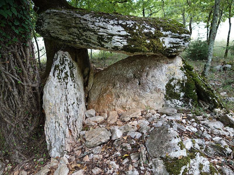 Photo du Monument Historique Dolmen d'Aubin situé à Saint-Chels