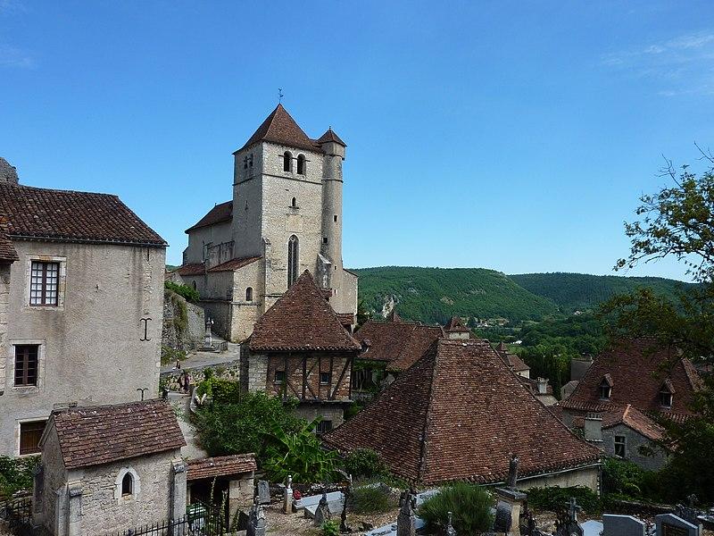Photo du Monument Historique Eglise situé à Saint-Cirq-Lapopie