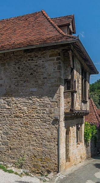 Photo du Monument Historique Maison du 13e siècle situé à Saint-Cirq-Lapopie