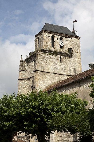 Photo du Monument Historique Ancienne église Saint-Martin et son beffroi situé à Souillac