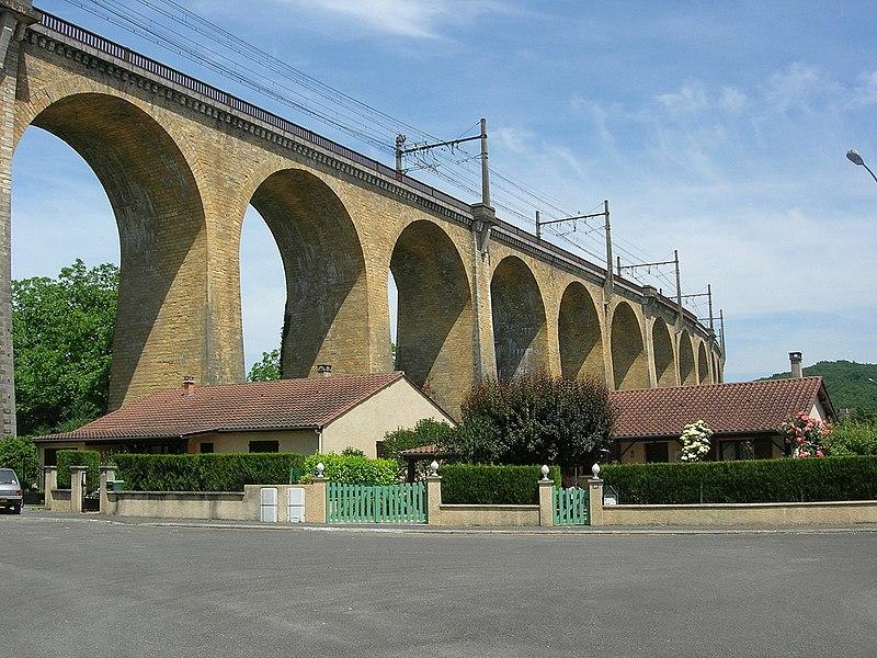 Photo du Monument Historique Viaduc de la Borrèze situé à Souillac
