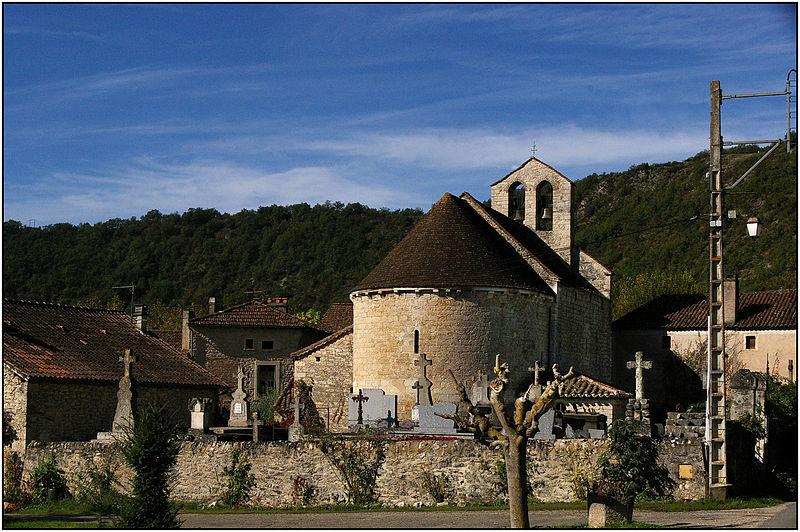 Photo du Monument Historique Eglise Saint-Martin-de-Caïx situé à Luzech