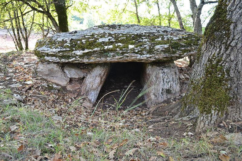 Photo du Monument Historique Site archéologique du dolmen de Combe de Saule n° 2 situé à Marcilhac-sur-Célé