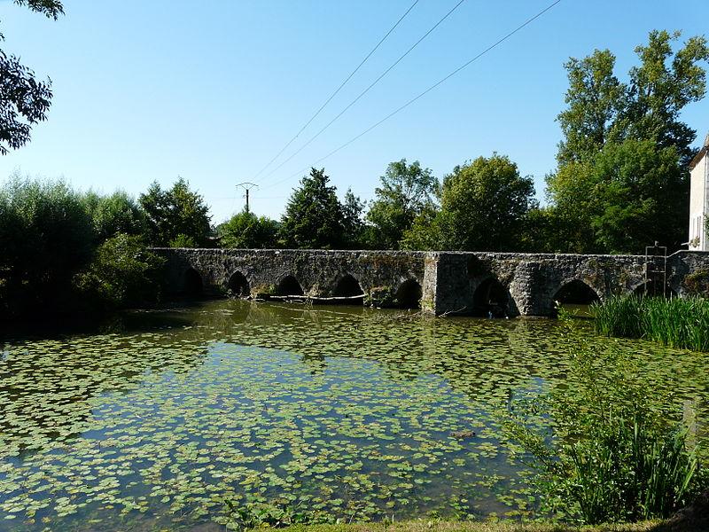 Photo du Monument Historique Pont médiéval, dit le vieux pont, sur le Dropt situé à Agnac