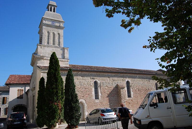 Photo du Monument Historique Eglise Saint-Eutrope situé à Allemans-du-Dropt