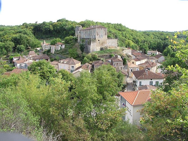 Photo du Monument Historique Château de Blanquefort situé à Blanquefort-sur-Briolance