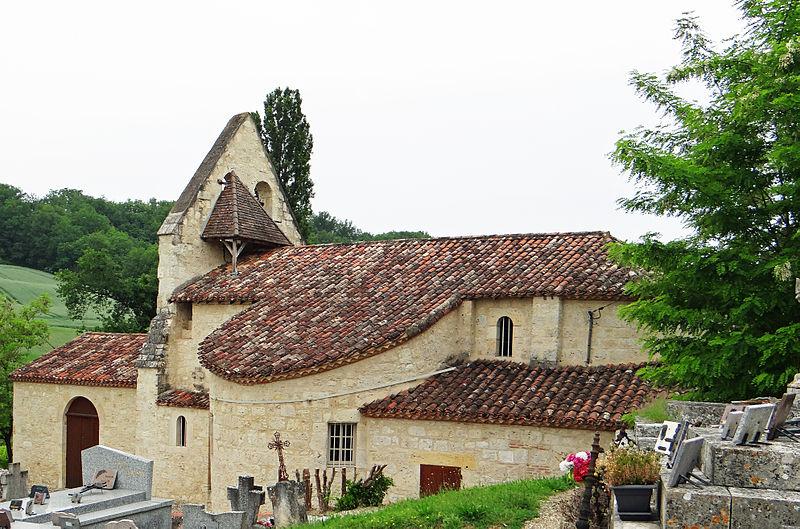 Photo du Monument Historique Eglise de Cabalsault situé à Castelculier