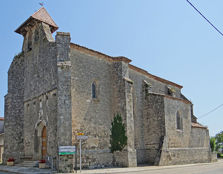 Photo du Monument Historique Eglise Sainte-Quitterie situé à Frégimont