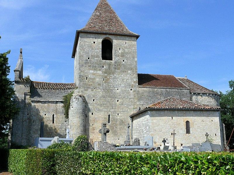 Photo du Monument Historique Eglise Saint-Sardos de Laurunque situé à Gavaudun