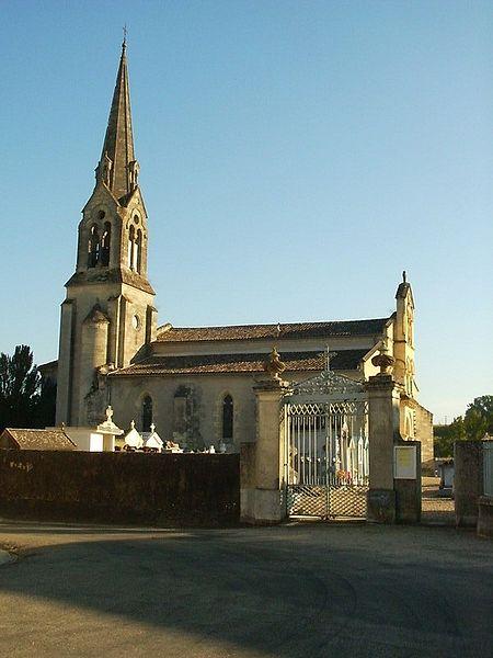 Photo du Monument Historique Eglise Saint-Jean Baptiste situé à Lagupie