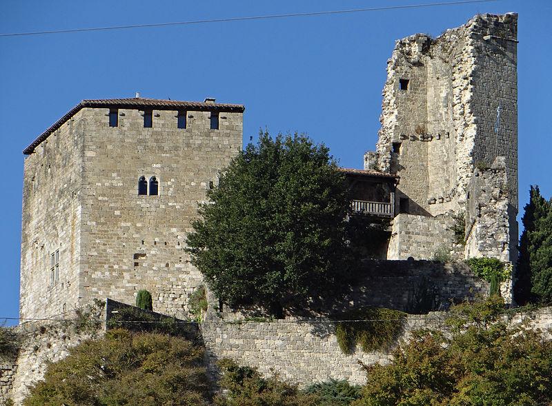 Photo du Monument Historique Ruines du château féodal situé à Madaillan