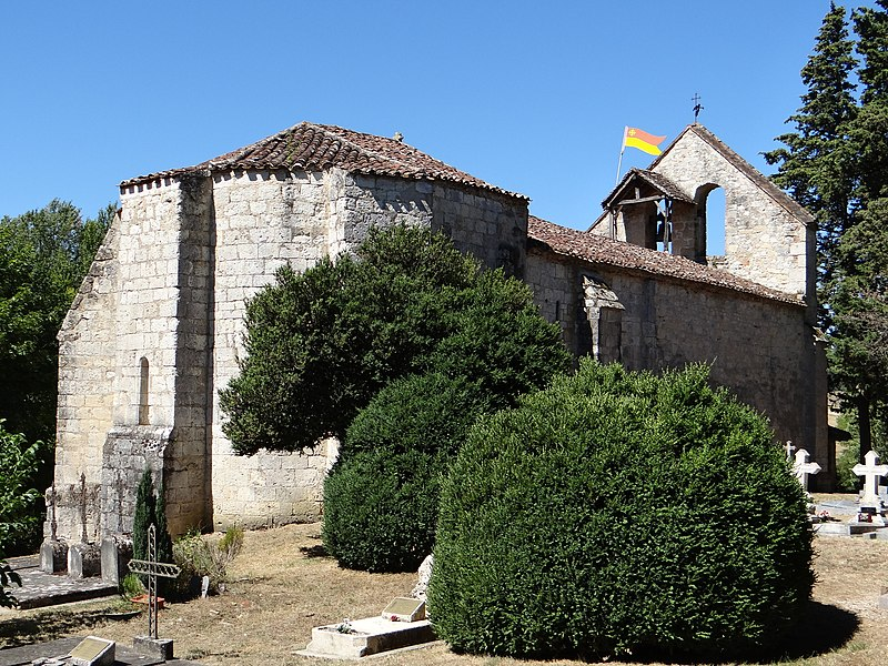 Photo du Monument Historique Eglise Saint-Jean de Balerme situé à Montpezat
