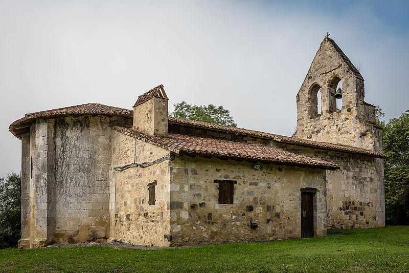 Photo du Monument Historique Ancienne église d'Arbussan situé à Poudenas