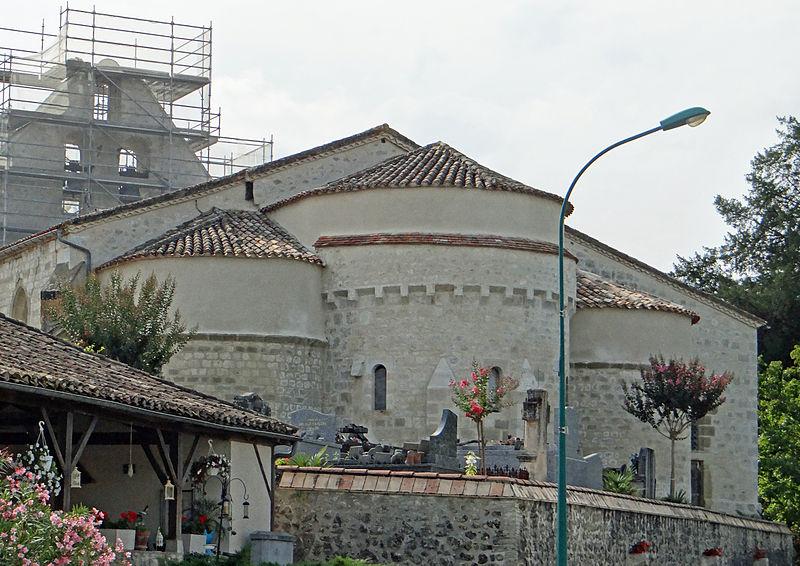 Photo du Monument Historique Eglise Saint-Colomban situé à Saint-Colomb-de-Lauzun