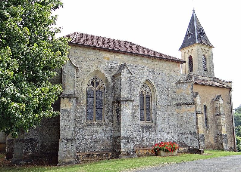 Photo du Monument Historique Eglise de Las-Treilles situé à Saint-Front-sur-Lémance