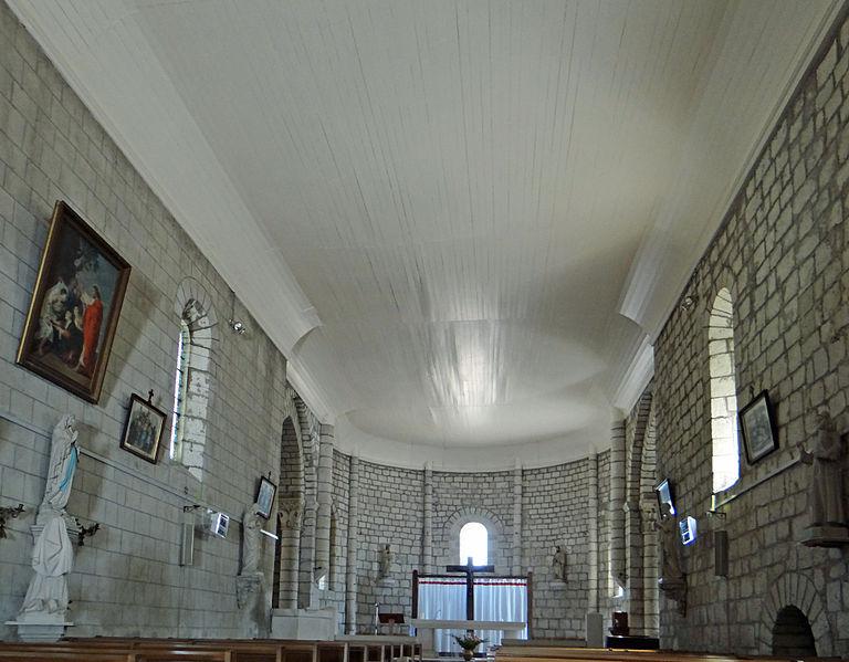 Photo du Monument Historique Eglise Saint-Pierre situé à La Sauvetat-de-Savères