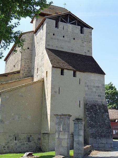 Photo du Monument Historique Eglise Saint-Jean de Villeneuve-de-Mézin situé à Lannes