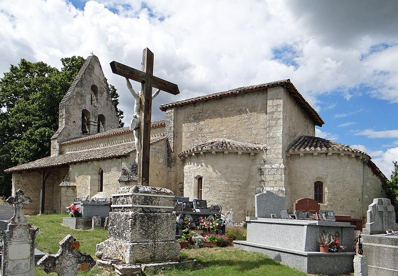 Photo du Monument Historique Eglise Saint-Pierre del Pech situé à Saint-Maurin