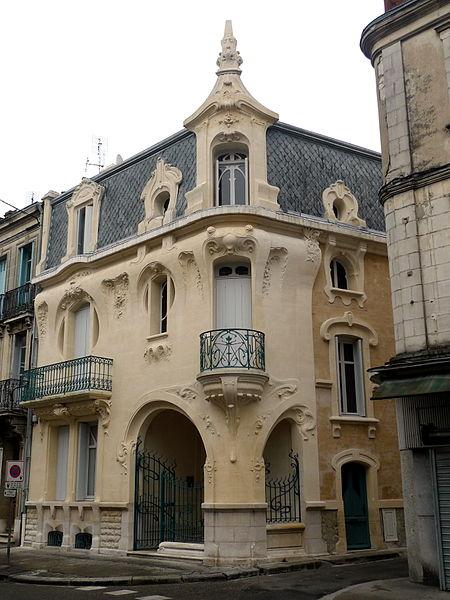 Photo du Monument Historique Maison Art Nouveau situé à Agen