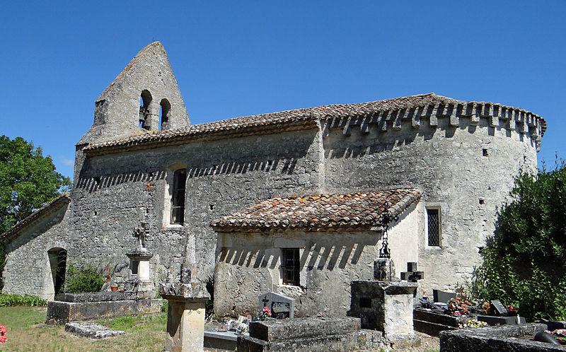 Photo du Monument Historique Eglise Saint-Clair situé à Cauzac