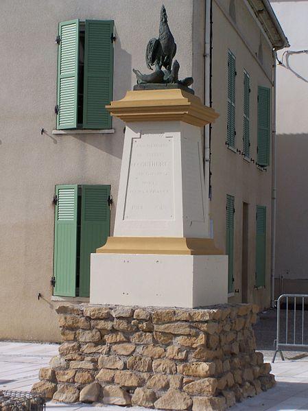 Photo du Monument Historique Monument aux morts de la guerre 1914-1918, situé au croisement des rues des Tilleuls et de la Poste situé à Couthures-sur-Garonne