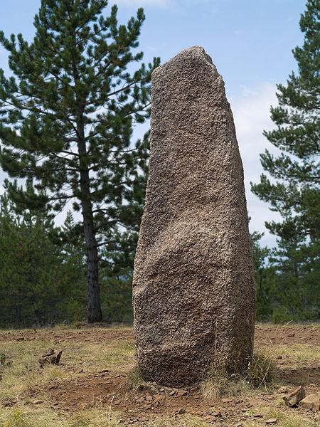 Photo du Monument Historique Menhirs constituant le premier groupe dit de la Fage situé à Les Bondons