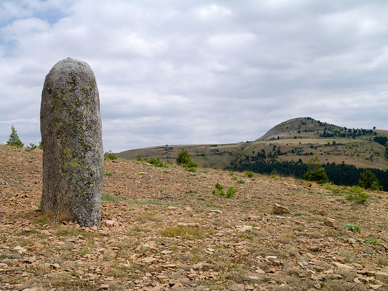 Photo du Monument Historique Menhirs de la Veissière situé à Bondons (Les)