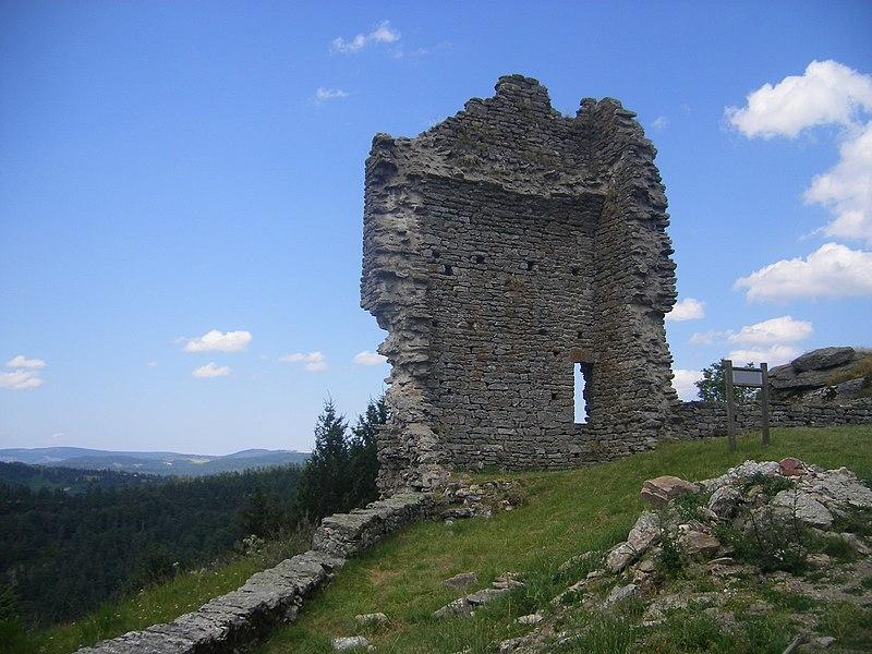 Photo du Monument Historique Ruines du château situé à Luc