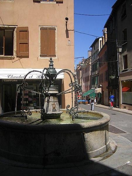 Photo du Monument Historique Fontaine du Griffon de Soubeyran situé à Mende