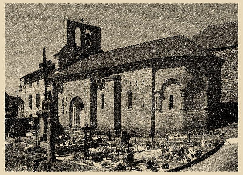 Photo du Monument Historique Eglise Notre-Dame de la Rouvière situé à Pelouse