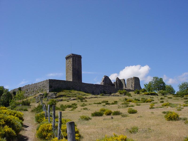 Photo du Monument Historique Château de la Garde-Guérin situé à Prévenchères