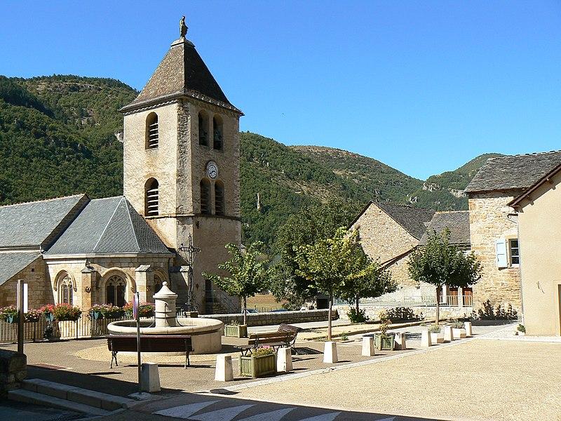 Photo du Monument Historique Eglise Notre-Dame situé à Quézac