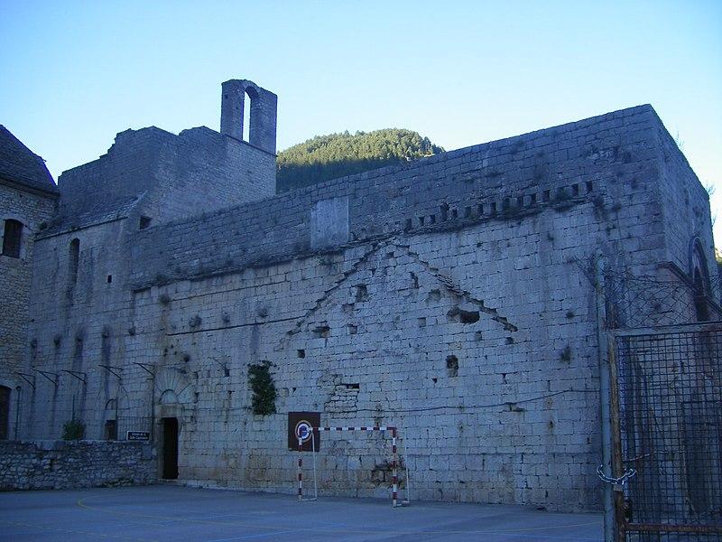 Photo du Monument Historique Ancienne abbaye situé à Sainte-Enimie