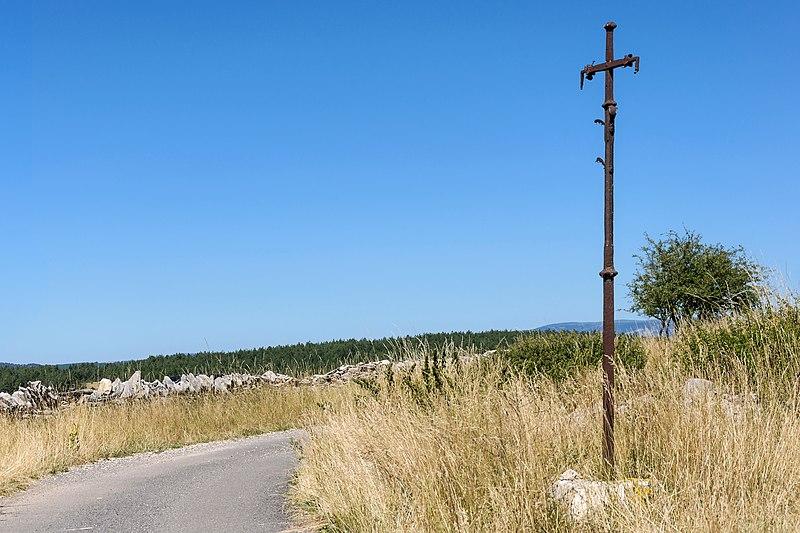 Photo du Monument Historique Croix en fer forgé situé à Sainte-Enimie
