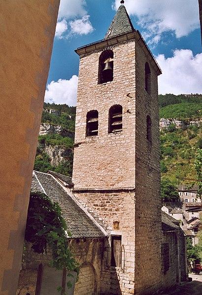 Photo du Monument Historique Eglise paroissiale Sainte-Enimie situé à Sainte-Enimie