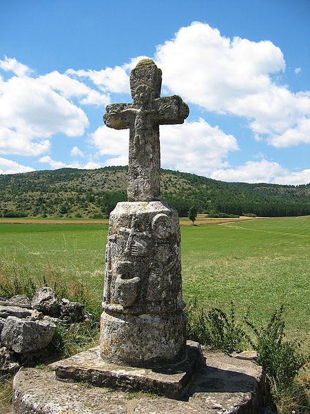 Photo du Monument Historique Croix de pierre située au Buffre situé à Hures-la-Parade