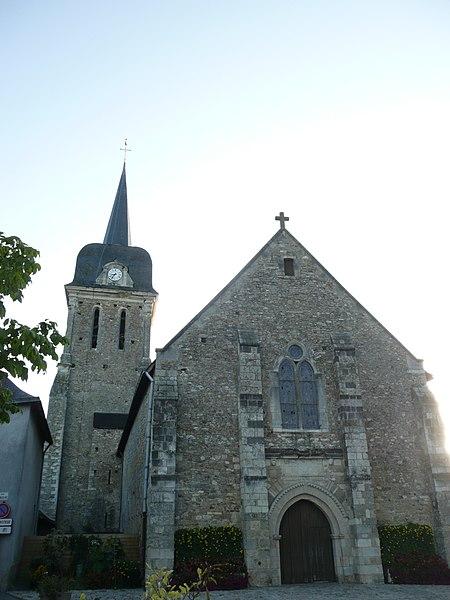 Photo du Monument Historique Eglise et presbytère situé à Brissarthe