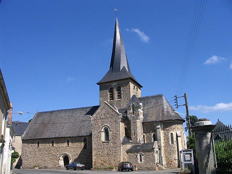 Photo du Monument Historique Eglise situé à Chemiré-sur-Sarthe